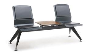 Аэро Многоместная секция (2-х местная) / Без подлокотников - С кофейным столиком из ЛДСП