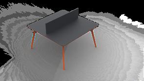 Планета ВС Двойной Стол персонал (4 ножка) (160см)
