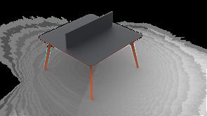 Планета ВС Двойной Стол персонал (4 ножка) (180см)